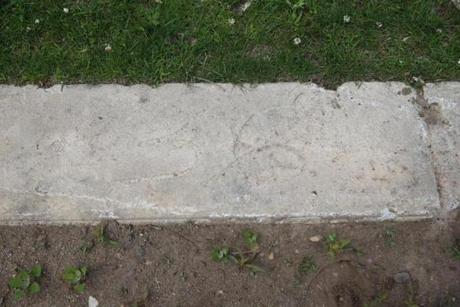 Andrew Puchalow's grave in Fairview Cemetery can be identified only by the number 36 hand-drawn on a slab of concrete.
